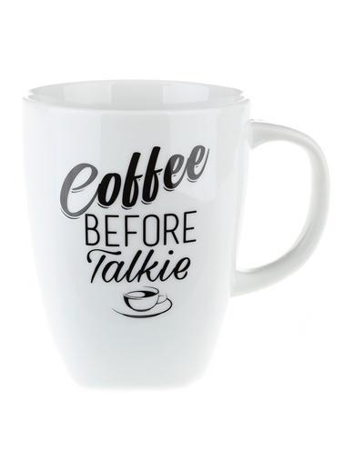 Morhipo Home Coffee Before Talkie - Çift Taraflı Kupa Beyaz